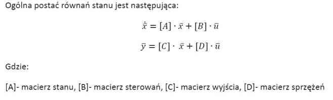 Równania stanu - postać ogólna