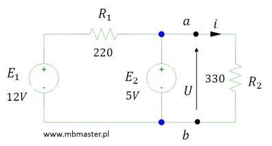 Obwody elektryczne - twierdzenie Nortona zadanie 1