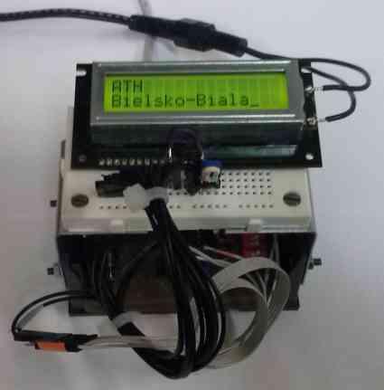 Urządzenie USB współpracujące z wyświetlaczem LCD.